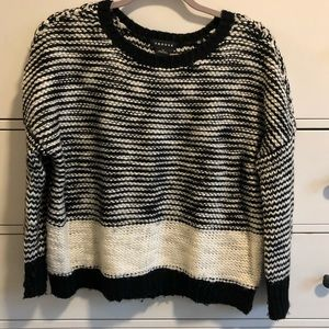 Trouve black and white knit sweater